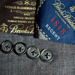 44R Brooks Brothers REGENT Gray HOPSAK blazer